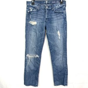 7 SEVEN FOR ALL MANKIND Rickie Boyfriend Jeans 25
